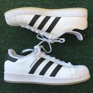 NWT Adidas Superstar Sneaker White/Black 7.5